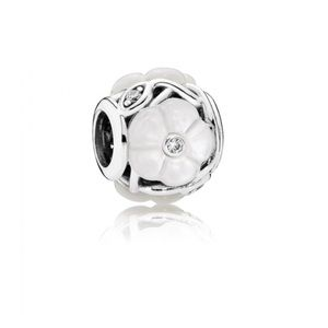 Mother of pearl flower Pandora charm